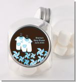 Twin Little Boy Outfits - Personalized Baby Shower Candy Jar