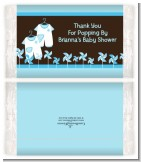 Twin Little Boy Outfits - Personalized Popcorn Wrapper Baby Shower Favors