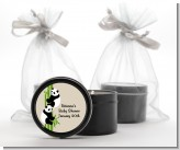Twin Pandas - Baby Shower Black Candle Tin Favors