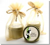 Twin Pandas - Baby Shower Gold Tin Candle Favors