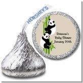Twin Pandas - Hershey Kiss Baby Shower Sticker Labels