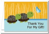 Twin Turtle Boys - Baby Shower Thank You Cards