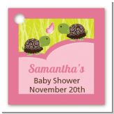 Twin Turtle Girls - Personalized Baby Shower Card Stock Favor Tags