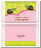Twin Turtle Girls - Personalized Popcorn Wrapper Baby Shower Favors