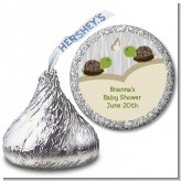 Twin Turtles - Hershey Kiss Baby Shower Sticker Labels