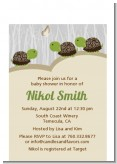 Twin Turtles - Baby Shower Petite Invitations