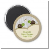 Twin Turtles - Personalized Baby Shower Magnet Favors