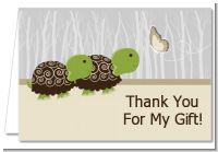 Twin Turtles - Baby Shower Thank You Cards