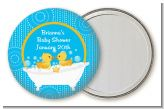 Twin Duck - Personalized Baby Shower Pocket Mirror Favors