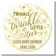 Twinkle Little Star - Round Personalized Baby Shower Sticker Labels thumbnail
