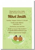 Twins Two Peas in a Pod African American - Baby Shower Petite Invitations