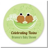 Twins Two Peas in a Pod African American - Personalized Baby Shower Table Confetti