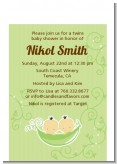 Twins Two Peas in a Pod Asian - Baby Shower Petite Invitations