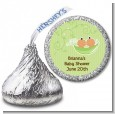Twins Two Peas in a Pod Hispanic - Hershey Kiss Baby Shower Sticker Labels thumbnail