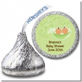 Twins Two Peas in a Pod Hispanic - Hershey Kiss Baby Shower Sticker Labels