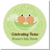 Twins Two Peas in a Pod Hispanic - Personalized Baby Shower Table Confetti
