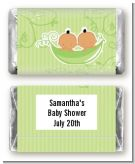 Twins Two Peas in a Pod Hispanic Two Girls - Personalized Baby Shower Mini Candy Bar Wrappers