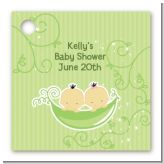 Twins Two Peas in a Pod Asian - Personalized Baby Shower Card Stock Favor Tags