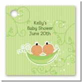 Twins Two Peas in a Pod Hispanic - Personalized Baby Shower Card Stock Favor Tags