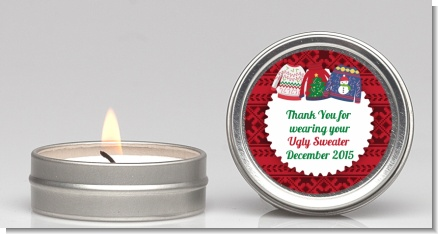 Ugly Sweater - Christmas Candle Favors