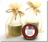 Ugly Sweater - Christmas Gold Tin Candle Favors