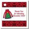 Ugly Sweater - Personalized Christmas Card Stock Favor Tags thumbnail