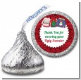 Ugly Sweater - Hershey Kiss Christmas Sticker Labels thumbnail