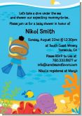 Under the Sea African American Baby Boy Snorkeling - Baby Shower Invitations
