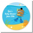 Under the Sea African American Baby Boy Snorkeling - Personalized Baby Shower Table Confetti thumbnail