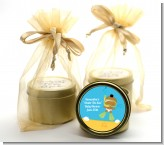 Under the Sea African American Baby Snorkeling - Baby Shower Gold Tin Candle Favors