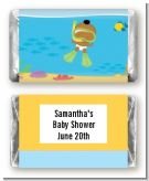 Under the Sea African American Baby Snorkeling - Personalized Baby Shower Mini Candy Bar Wrappers