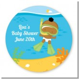 Under the Sea African American Baby Snorkeling - Personalized Baby Shower Table Confetti
