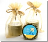 Under the Sea Asian Baby Boy Snorkeling - Baby Shower Gold Tin Candle Favors