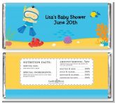 Under the Sea Asian Baby Boy Snorkeling - Personalized Baby Shower Candy Bar Wrappers