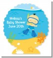 Under the Sea Asian Baby Boy Snorkeling - Personalized Baby Shower Centerpiece Stand thumbnail