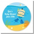 Under the Sea Asian Baby Boy Snorkeling - Personalized Baby Shower Table Confetti thumbnail