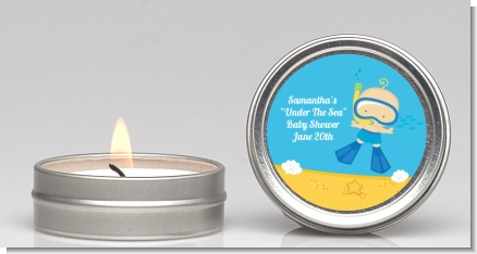 Under the Sea Baby Boy Snorkeling - Baby Shower Candle Favors