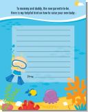 Under the Sea Baby Boy Snorkeling - Baby Shower Notes of Advice