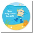 Under the Sea Baby Boy Snorkeling - Personalized Baby Shower Table Confetti thumbnail