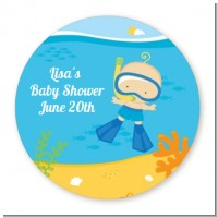 Under the Sea Baby Boy Snorkeling - Personalized Baby Shower Table Confetti