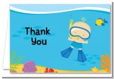Under the Sea Baby Boy Snorkeling - Baby Shower Thank You Cards