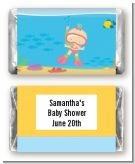 Under the Sea Baby Girl Snorkeling - Personalized Baby Shower Mini Candy Bar Wrappers