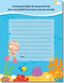 Under the Sea Baby Girl Snorkeling - Baby Shower Notes of Advice