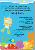 Under the Sea Baby Snorkeling - Baby Shower Invitations