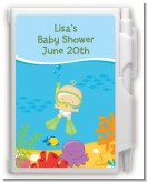 Under the Sea Baby Snorkeling - Baby Shower Personalized Notebook Favor