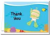 Under the Sea Baby Snorkeling - Baby Shower Thank You Cards