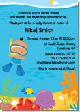 Under the Sea Hispanic Baby Boy Snorkeling - Baby Shower Invitations