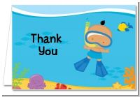 Under the Sea Hispanic Baby Boy Snorkeling - Baby Shower Thank You Cards