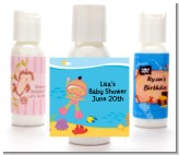 Under the Sea Hispanic Baby Girl Snorkeling - Personalized Baby Shower Lotion Favors