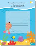 Under the Sea Hispanic Baby Girl Snorkeling - Baby Shower Notes of Advice